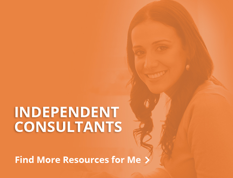 Resources for independent consultants - button