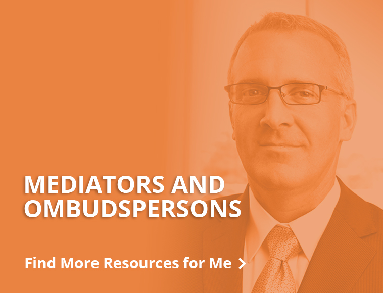 Resources for mediators and ombudspersons - button
