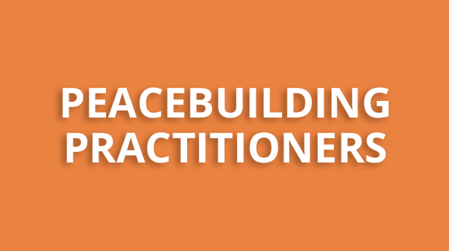 Peacebuilding practitioners - button