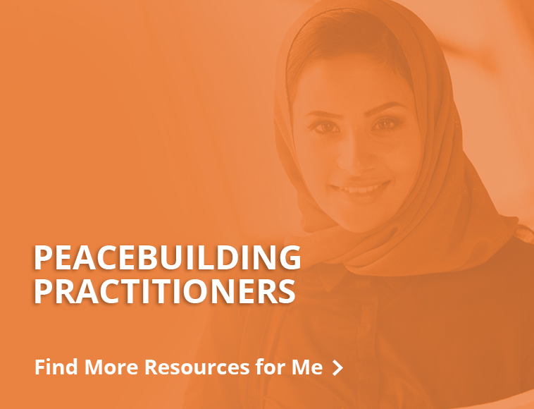 Resources for Peacebuilding practitioners - button