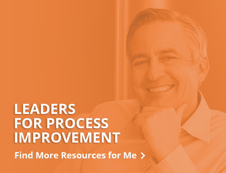 Resources for Leaders for process improvement - button