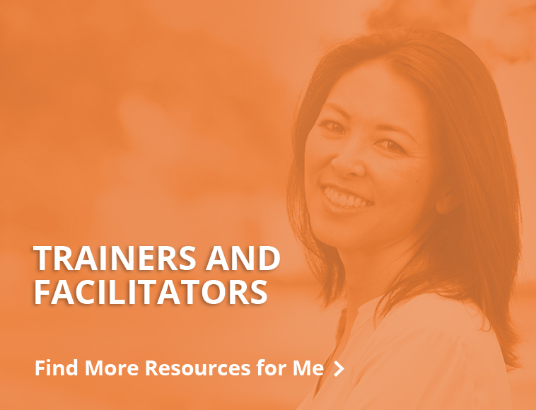Resources for trainers and facilitators - button