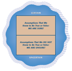 Certain and Uncertain Assumptions