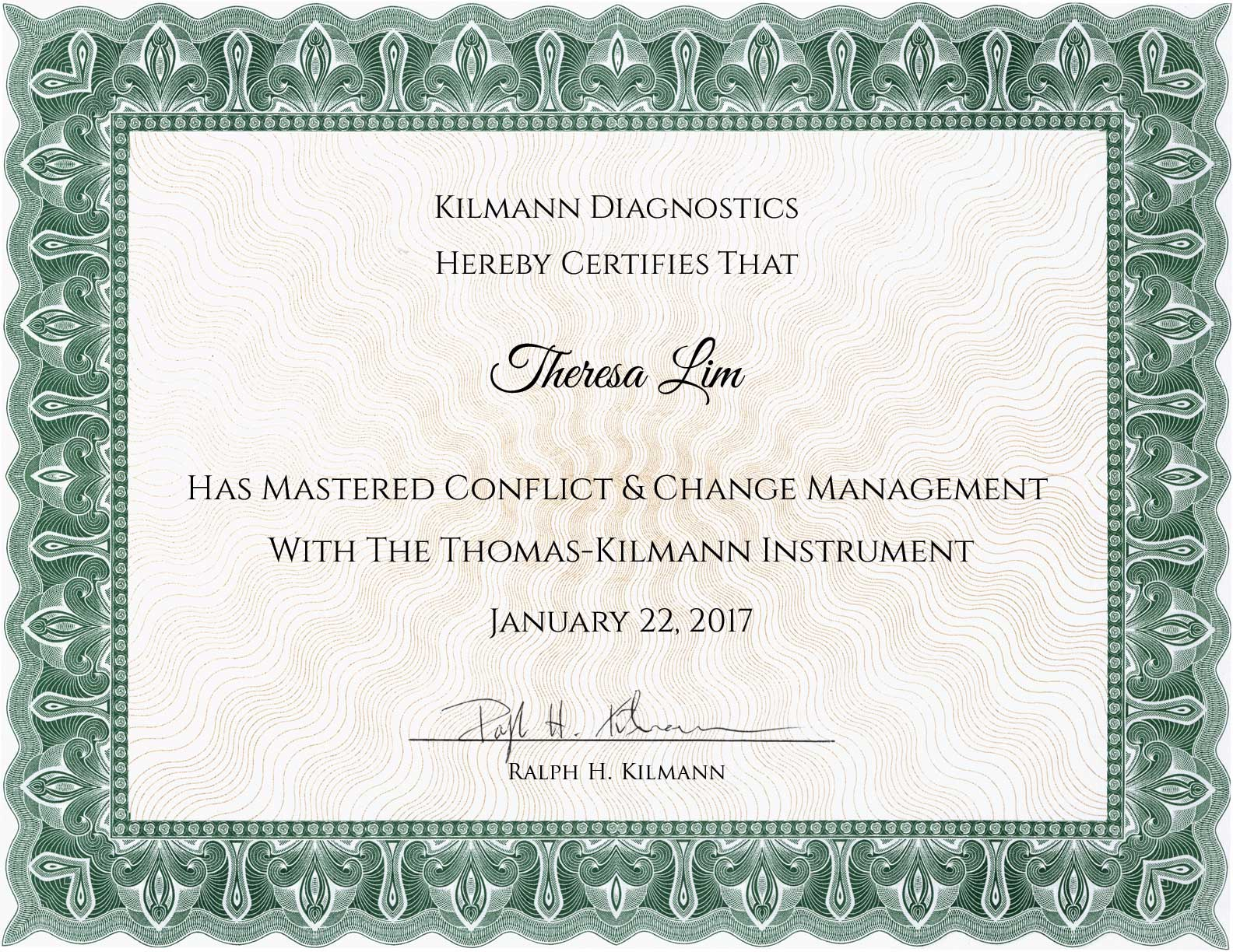 Certification in Conflict Management and Change Management