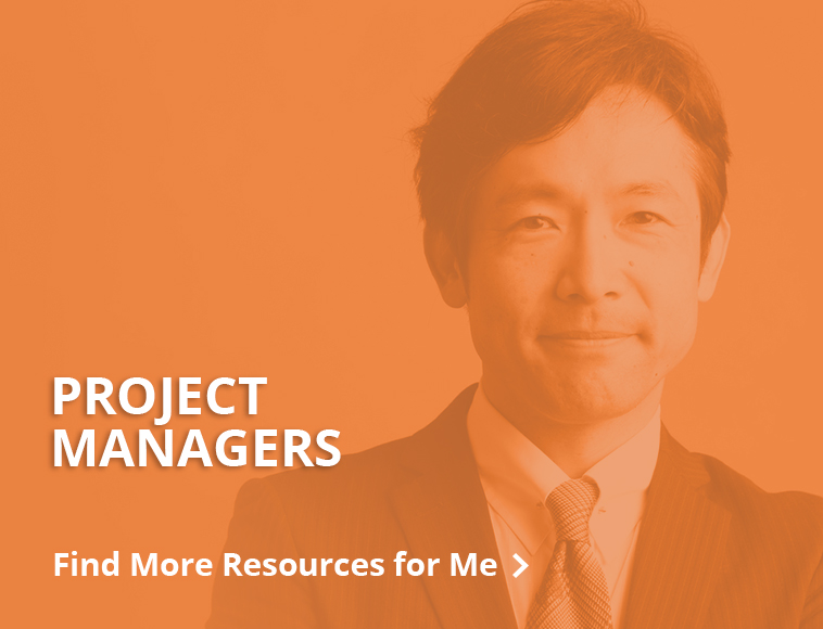 Find more resources for project mangers - Button