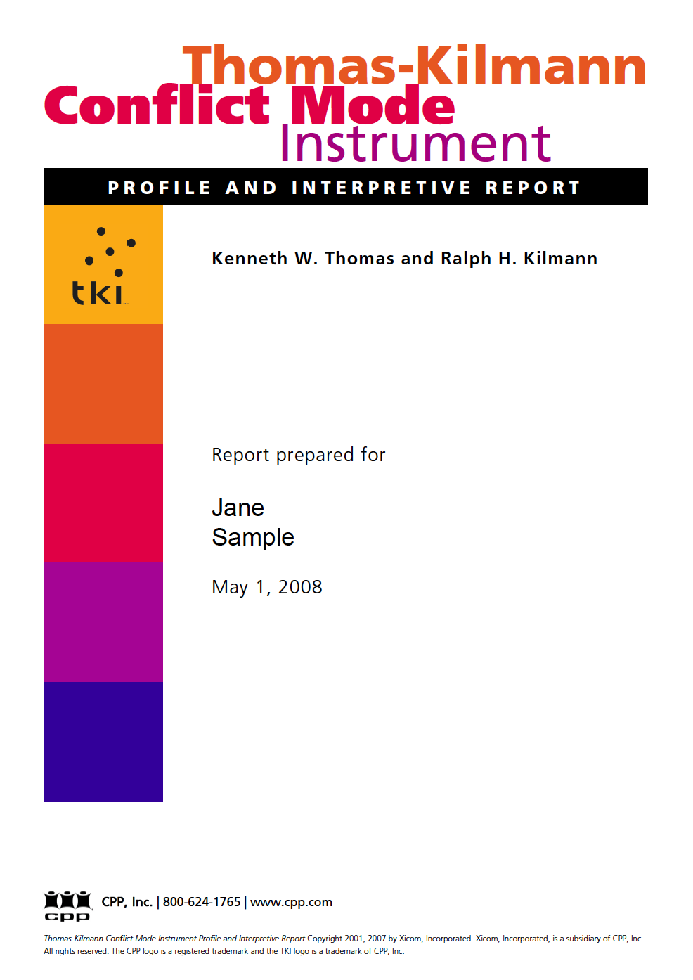 Thomas-Kilmann Instrument TKI Report