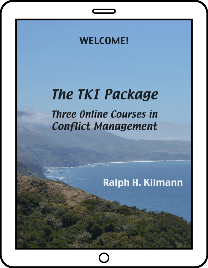 The Thomas-Kilmann Instrument Package of Courses