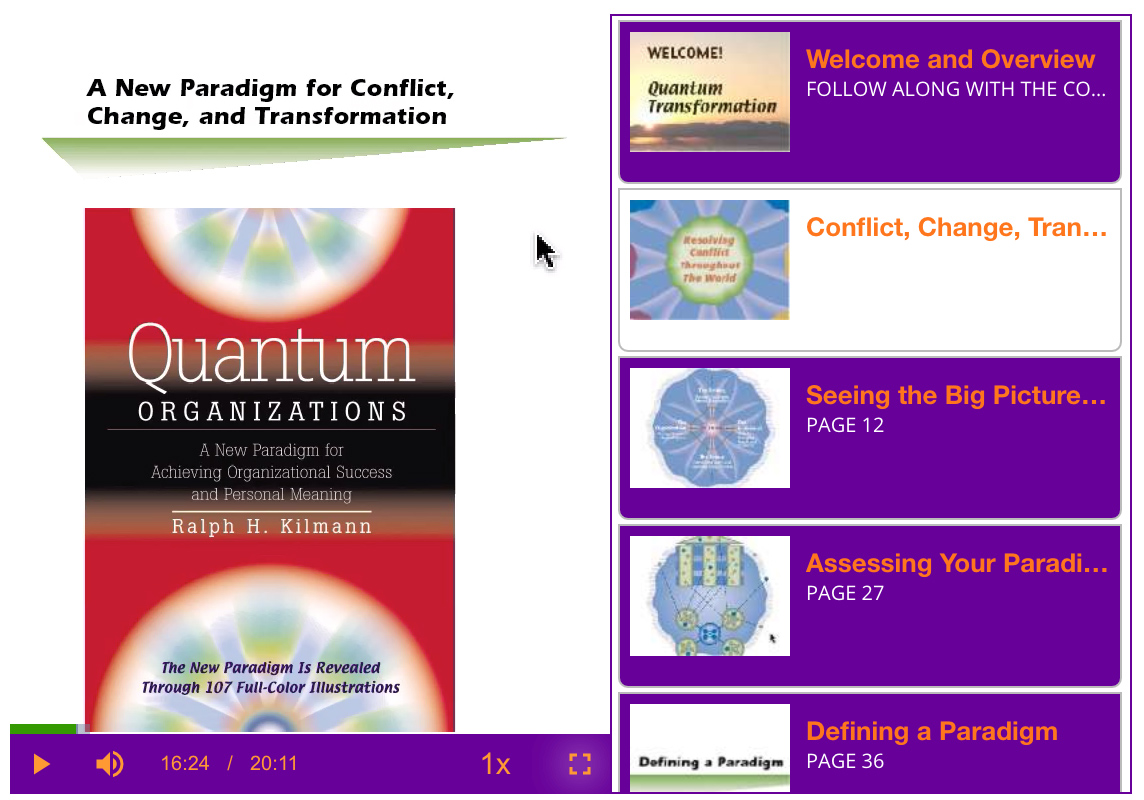 Media Player for the Quantum Transformation Course